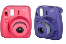 Instax mini 8 Grape и Raspberry